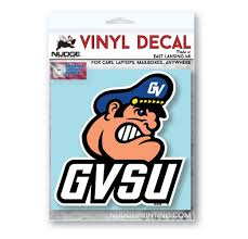 Grand Valley State University Laker Head Car Decal Nudge Printing