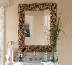 pottery barn driftwood mirror look 4 less