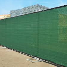 6 X 50 Fence Windscreen Privacy Screen Cover Green Mesh Crosslinks