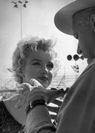 """Marilyn Monroe and Joshua Logan on the set of """"Bus Stop,"""" 1956 ..."""