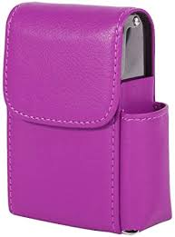 cigarette box case with pouch lighter