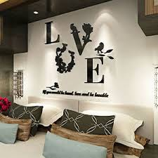 Love Mirror Quote Removable 3d Wall Sticker Decal Living Room Home Decor 5 Color Ebay
