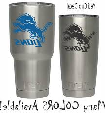 Detroit Lions Football Decal For Nfl Yeti Tumbler