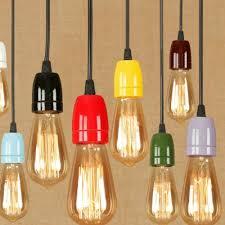 mini pendant light in bare bulb