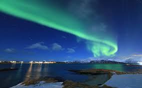 winter lake northern lights 4k ultra hd