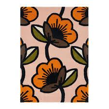 passion flower rug pink 160x230cm