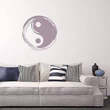 Amazon Com Ceciliapater Yin Yang Wall Decal Vinyl Wall Decal Yoga Studio Wall Decal Zen Wall Art Inspirational Yoga Art Peace Wall Decal Peace Stickers Home Kitchen