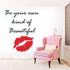 Makeup Quote Lips Wall Sticker Beauty Salon Decoration Making Up Design Beautiful Wall Decal Vinyl Lips Window Murals Ay1620 Wall Stickers Aliexpress