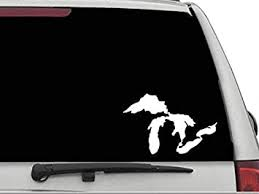 Amazon Com Decals Usa Great Lakes Decal Sticker For Car And Truck Windows And Laptops Automotive