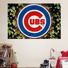 Fathead Mlb Chicago Cubs Chicago Cubs Ivy Logo Mural Wall Graphic Fathead 403784853