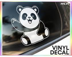 Panda Car Decal Etsy
