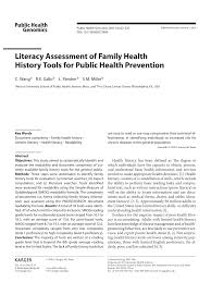 literacy essment of family health