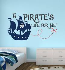 Pirate Wall Decal Boys Wall Decal A Pirate S Life For Me Pirate Decal Pirate Ship Wall A Boys Wall Decals Personalised Wall Stickers Wall Stickers Kids