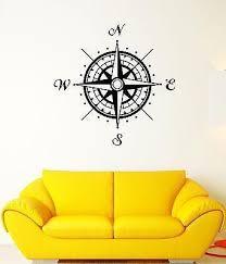 Wall Decal Compass Cardinal Points Orientation Landmark Vinyl Stickers Wallstickers4you