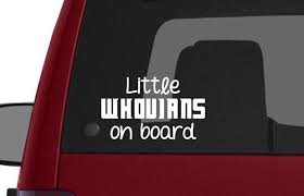 Little Whovians On Board Dr Who Vinyl Decal Mistically Made