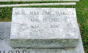 Addie Marshall Haymore (1925-2001) - Find A Grave Memorial