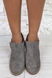 Priscilla Gray Booties | Cute Booties – Saved by the Dress