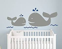 Amazon Com Nautical Mom And Baby Whale Wall Decal Nautical Decor Nursery Wall Decal Baby Whale Vinyl Baby Nursery Decor 30w12h Baby