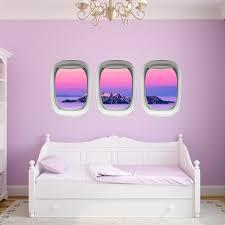 Vwaq Airplane Decals For Kids Room Aviation Wall Decor Plane Window Clings Ppw41 Walmart Com Walmart Com