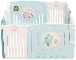 Amazon Com Baby Fence Toddler Safety Play Area Gate Home Playground Protective Playpen Home Kitchen