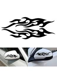 Buy One Pair Car Decoration Sticker Fire Flame Pattern Rearview Mirror Decals Car Sticks Decals At Jolly Chic
