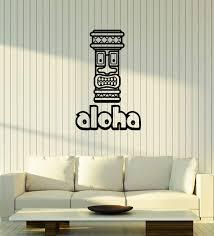 Amazon Com Large Vinyl Wall Decal Aloha Tiki Mask Bar Hawaii Home Decor Interior Stickers Mural Ig5693 Home Kitchen