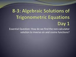 ppt 8 3 algebraic solutions of
