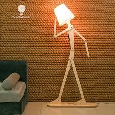 Hroome Modern Tall Wood Floor Lamp Standing Floor Lamps Adjustable Arm Art Design Diy Assembly Contem In 2020 Adjustable Floor Lamp Floor Standing Lamps Floor Lamp