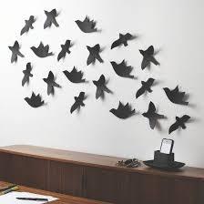 Target Umbra Loft 21 Piece Flock Bird Wall Decor Flower Wall Decor Bird Wall Decor Diy Wall Art