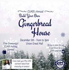"""Myra Parker on Twitter: """"Bring canned goods for their food drive, learn  more about food insecurity, build a gingerbread house, and there will be  super cute giveaways! See you soon, Tarheels! ❄️💙☕️…"""