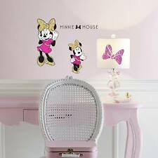 Roommates Minnie Mouse Peel And Stick Wall Decals With Glitter For Sale Online Ebay