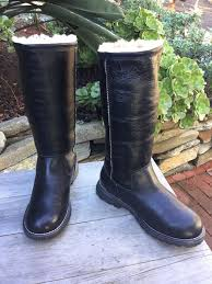 black leather boots women