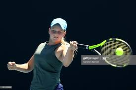 Tina Nadine Smith of Australia plays a forehand during her Junior... News  Photo - Getty Images