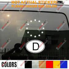 German D Oval Code Germany And Eu European Union Flag Car Decal Sticker Ebay