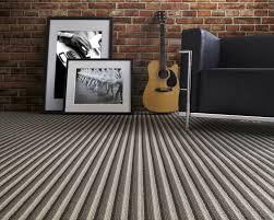 striped carpet hallway brewn