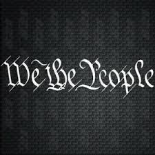 We The People Constitution Script Decal Car Window Vinyl Decal Sticker Laptop Ebay