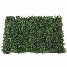 Artificial Boxwood Hedge Fake Vertical Garden Green Wall Mat Fence 60x40x4cm Ebay
