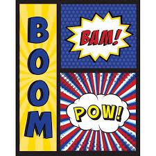 Boom Bam Pow Poster Print By Nd Art And Design Walmart Com Walmart Com