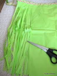 diy grass skirt for a costume out of