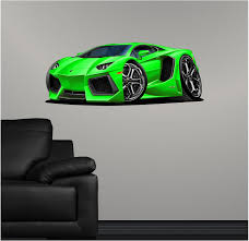 36 Lamborghini Aventador Green Wall Dec Buy Online In Guernsey At Desertcart