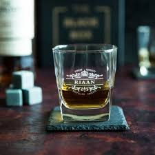 personalised whiskey glass name from