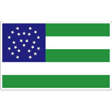 New York Police Department Nypd Green White Blue Flag Sticker At Sticker Shoppe
