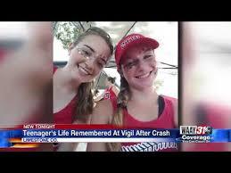 Vigil held for deadly crash victim - YouTube