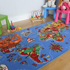 Amazon Com The Rug House Educational Fun Colourful World Map Countries Oceans Kids Rugs 4 4 X 6 7 Furniture Decor