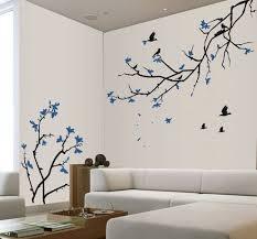 Cherry Blossom Wall Decal Blue Cherry Blossom Sakura Tree Branches Vinyl Wall Decal 110 Decoracion De Muros Decoracion De Interiores Decoracion De Pared
