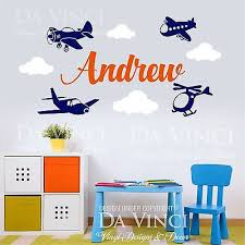 Airplanes Helicopter Aircraft Wall Custom Name Vinyl Wall Decal Sticker Room Ebay