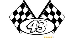 Amazon Com Checkered Flag Racing Number 43 Graphic Car Truck Window Decal Sticker Die Cut Vinyl Decal For Windows Cars Trucks Tool Boxes Laptops Macbook Virtually Any Hard Smooth Surface Arts