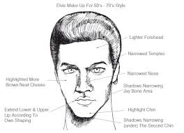 apply your elvis make up tribute hair