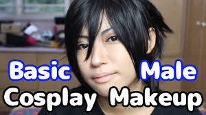 basic male cosplay makeup by goofy