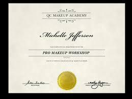 makeup cl certificates template